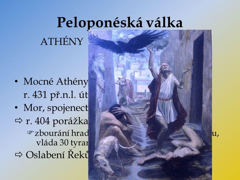 Peloponéská válka ATHÉNY SPARTA