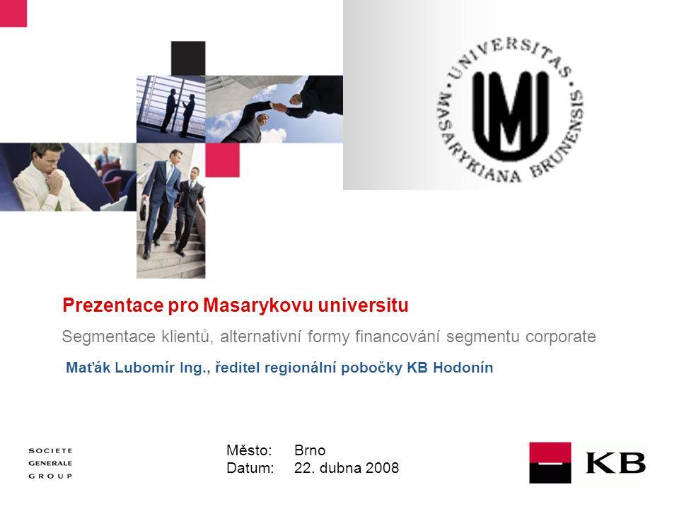 Prezentace pro Masarykovu universitu