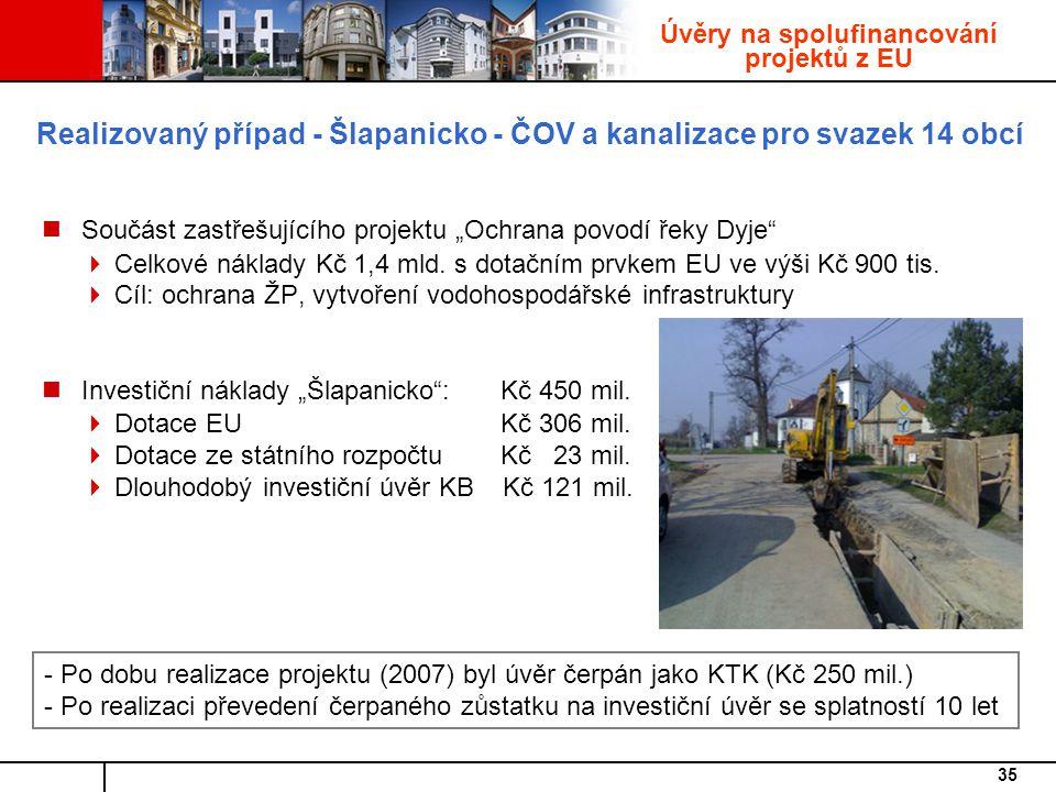 Realizovaný případ - Šlapanicko - ČOV a kanalizace pro svazek 14 obcí