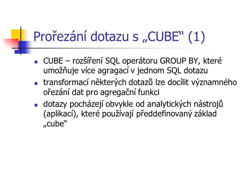 """Prořezání dotazu s """"CUBE (1)"""