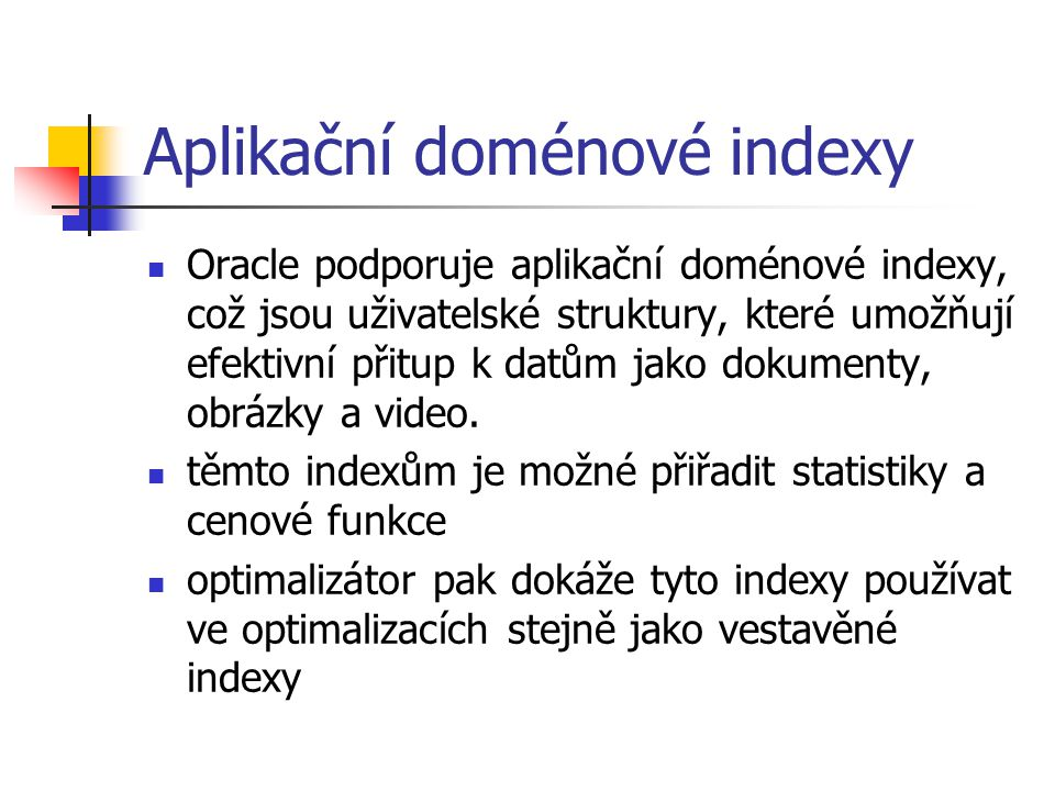 Aplikační doménové indexy