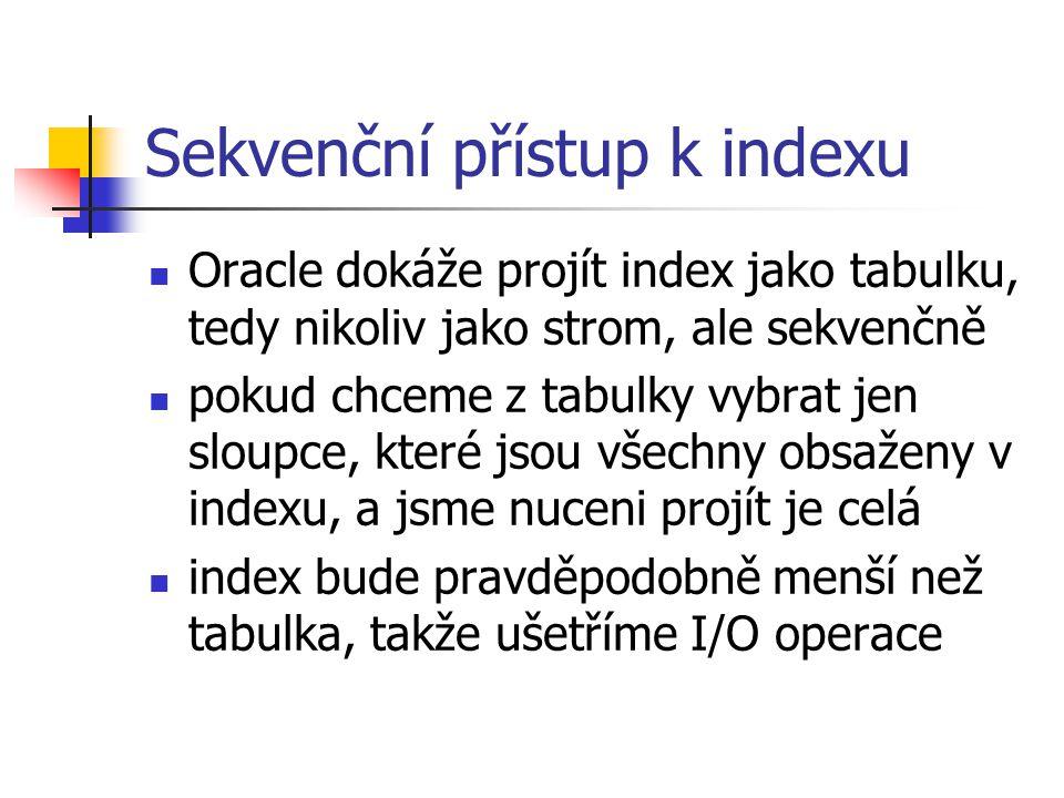 Sekvenční přístup k indexu