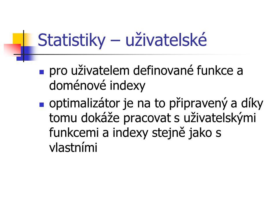Statistiky – uživatelské