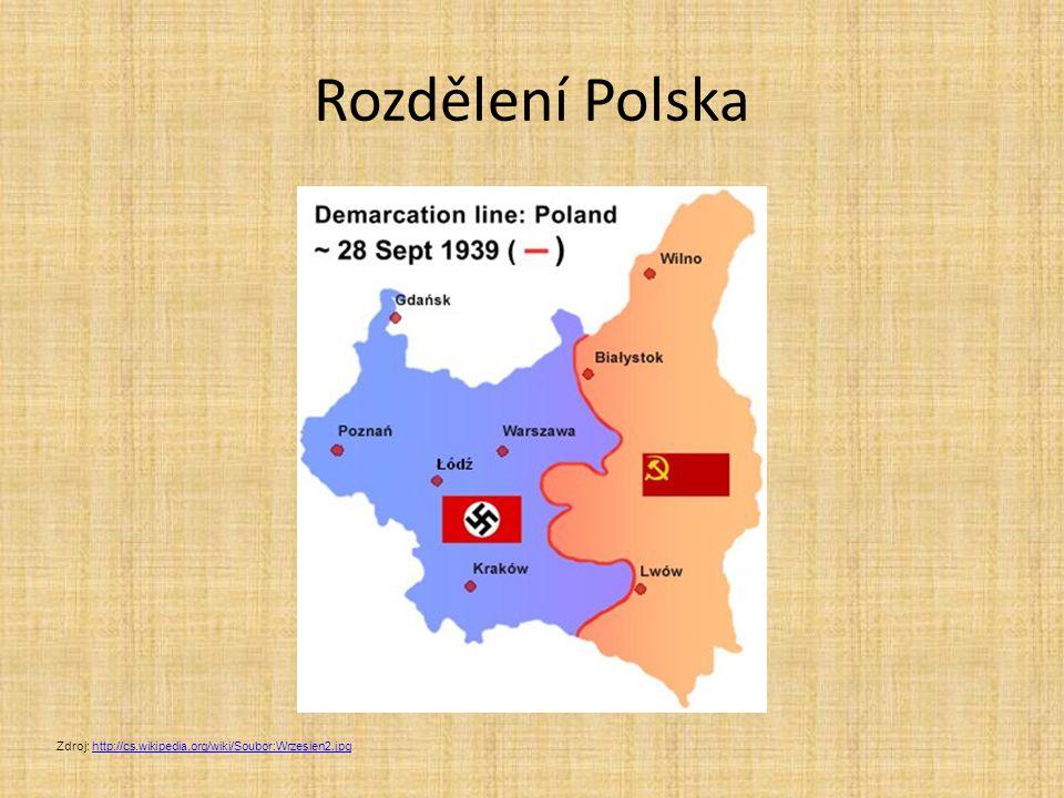 Rozdělení Polska Zdroj: http://cs.wikipedia.org/wiki/Soubor:Wrzesien2.jpg