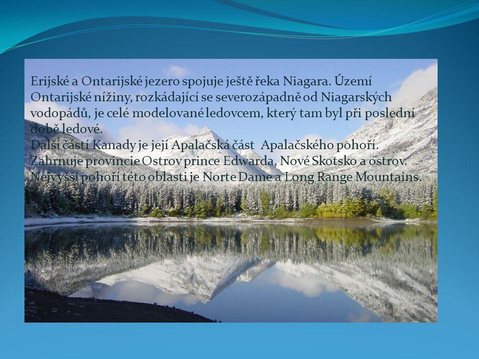 Erijské a Ontarijské jezero spojuje ještě řeka Niagara