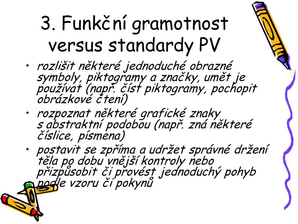 3. Funkční gramotnost versus standardy PV