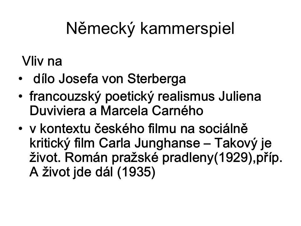 Německý kammerspiel Vliv na dílo Josefa von Sterberga