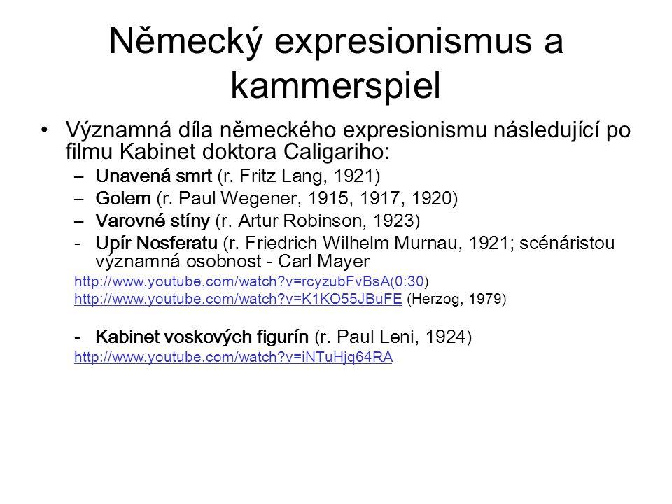 Německý expresionismus a kammerspiel