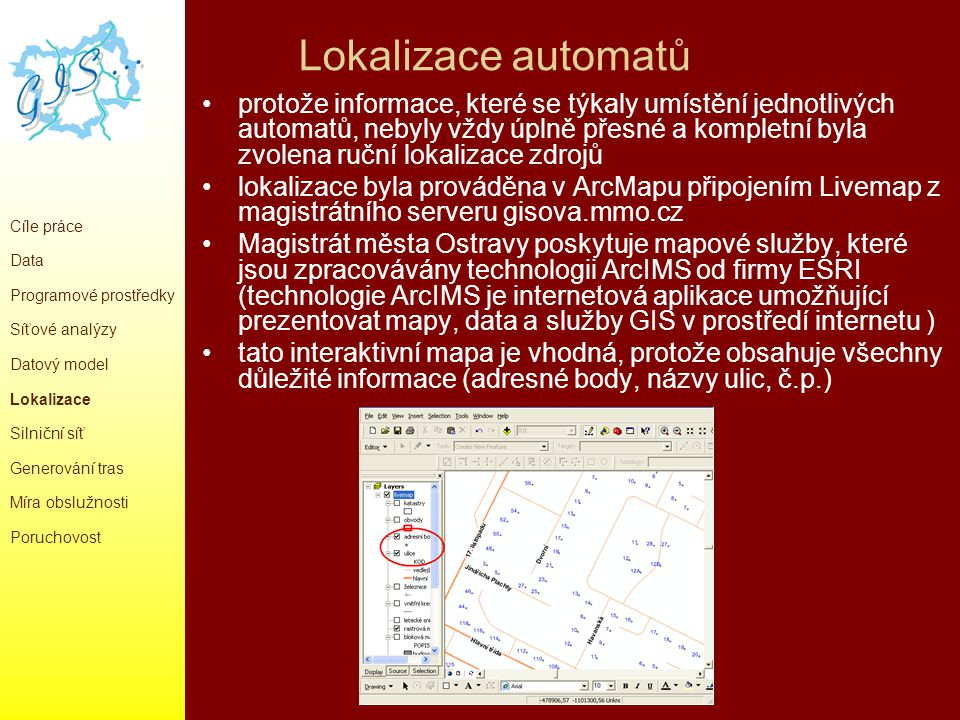 Lokalizace automatů