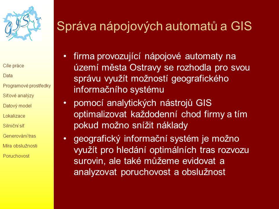 Správa nápojových automatů a GIS