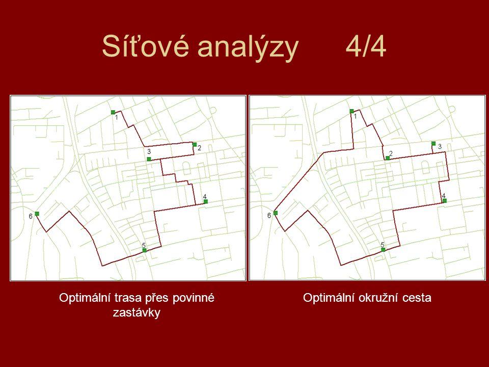 Síťové analýzy 4/4 Optimální trasa přes povinné zastávky