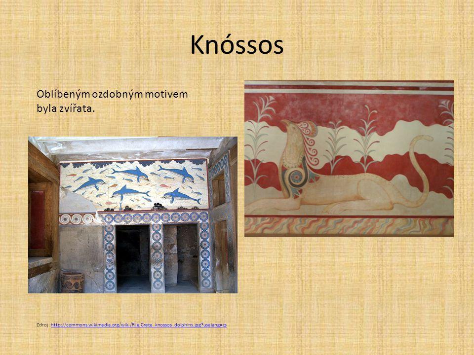 Knóssos Oblíbeným ozdobným motivem byla zvířata.