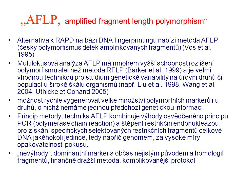 """AFLP, amplified fragment length polymorphism"
