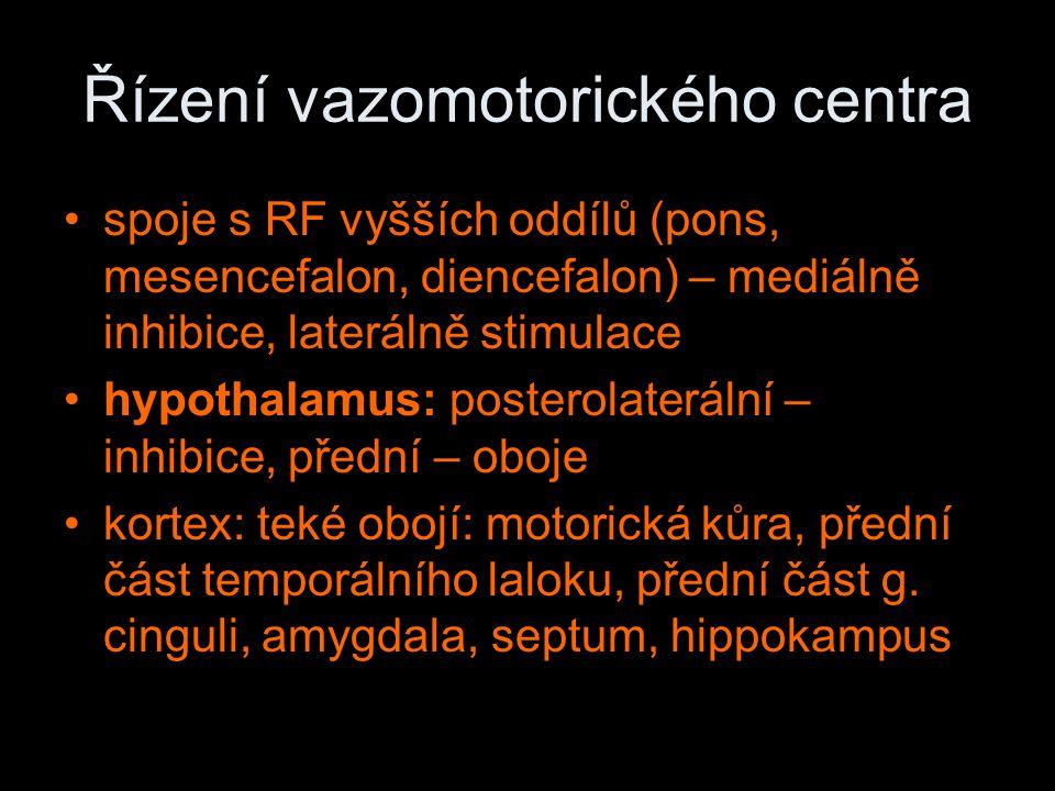 Řízení vazomotorického centra