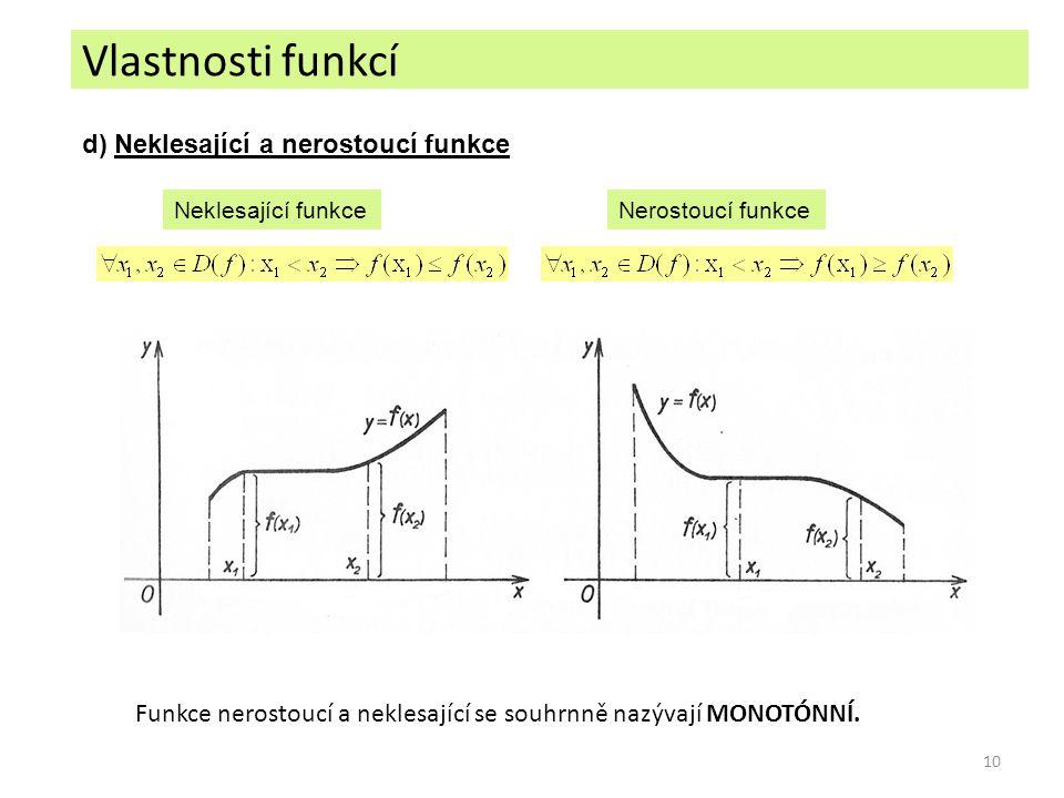 Funkce nerostoucí a neklesající se souhrnně nazývají MONOTÓNNÍ.