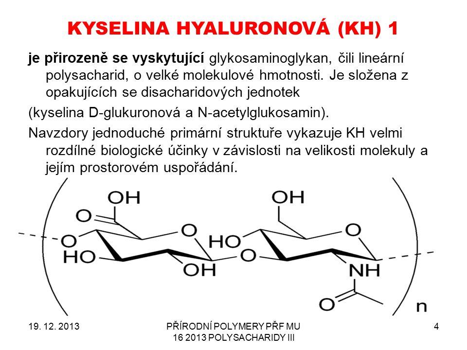 KYSELINA HYALURONOVÁ (KH) 1