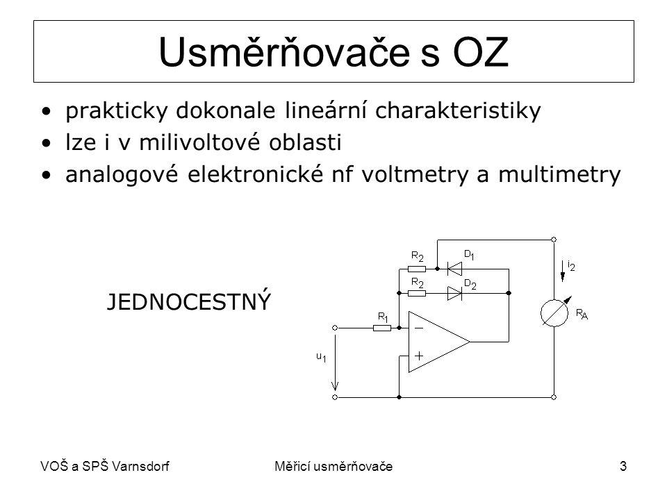Usměrňovače s OZ prakticky dokonale lineární charakteristiky