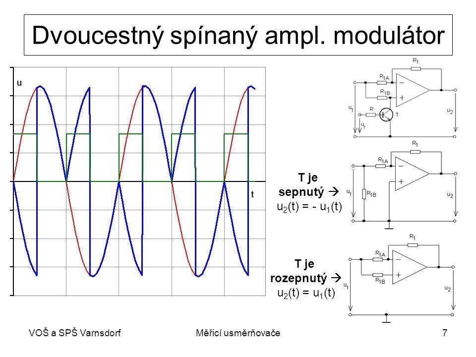 Dvoucestný spínaný ampl. modulátor