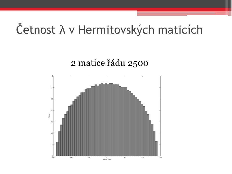 Četnost λ v Hermitovských maticích