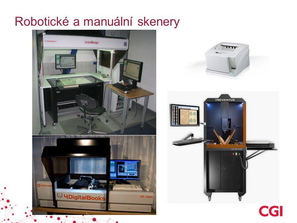 Robotické a manuální skenery
