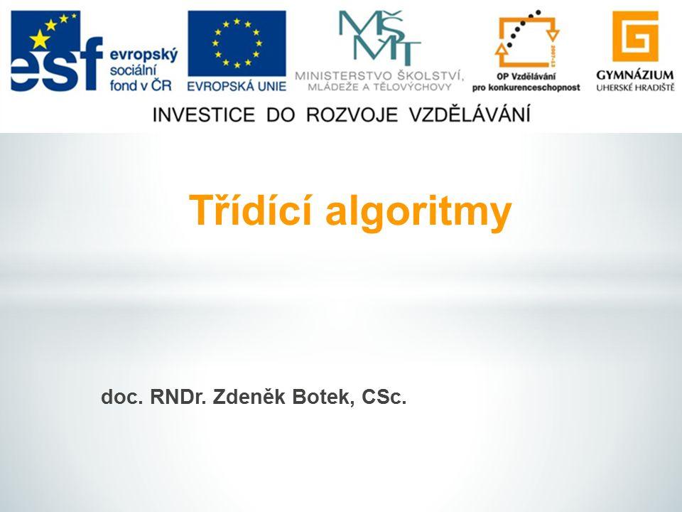 doc. RNDr. Zdeněk Botek, CSc.