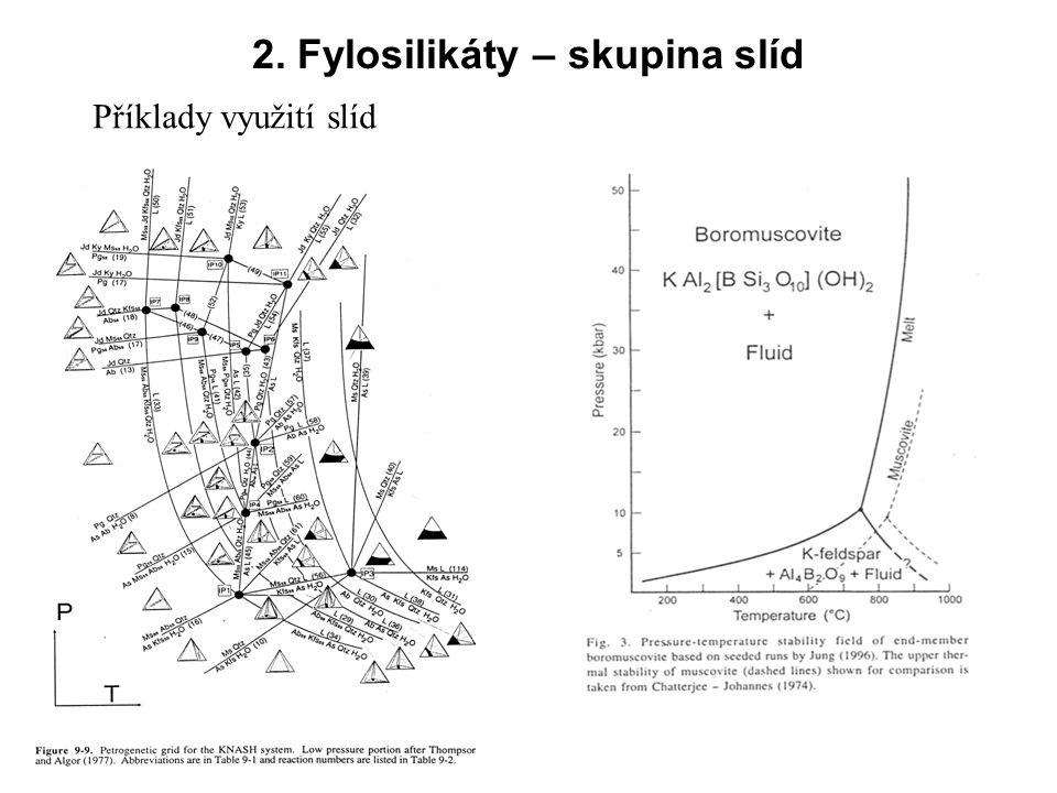 2. Fylosilikáty – skupina slíd