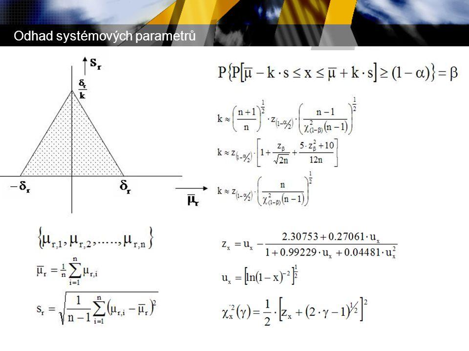 Odhad systémových parametrů