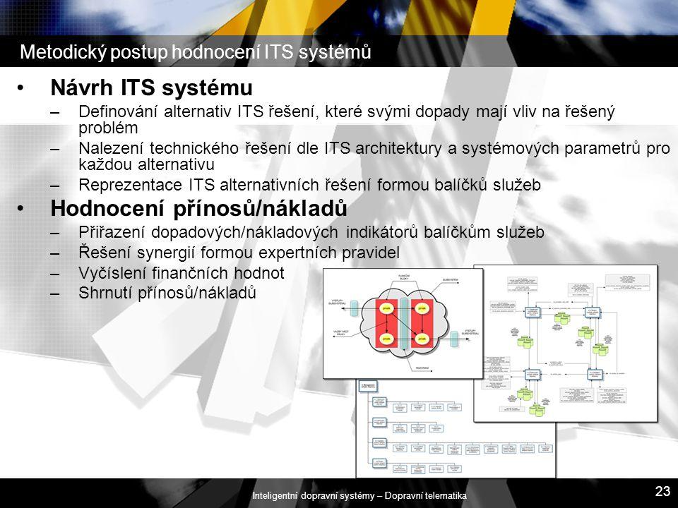 Metodický postup hodnocení ITS systémů