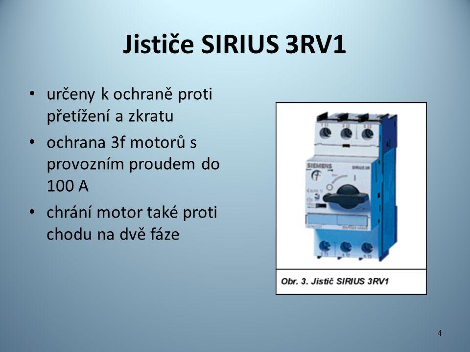 Jističe SIRIUS 3RV1 určeny k ochraně proti přetížení a zkratu