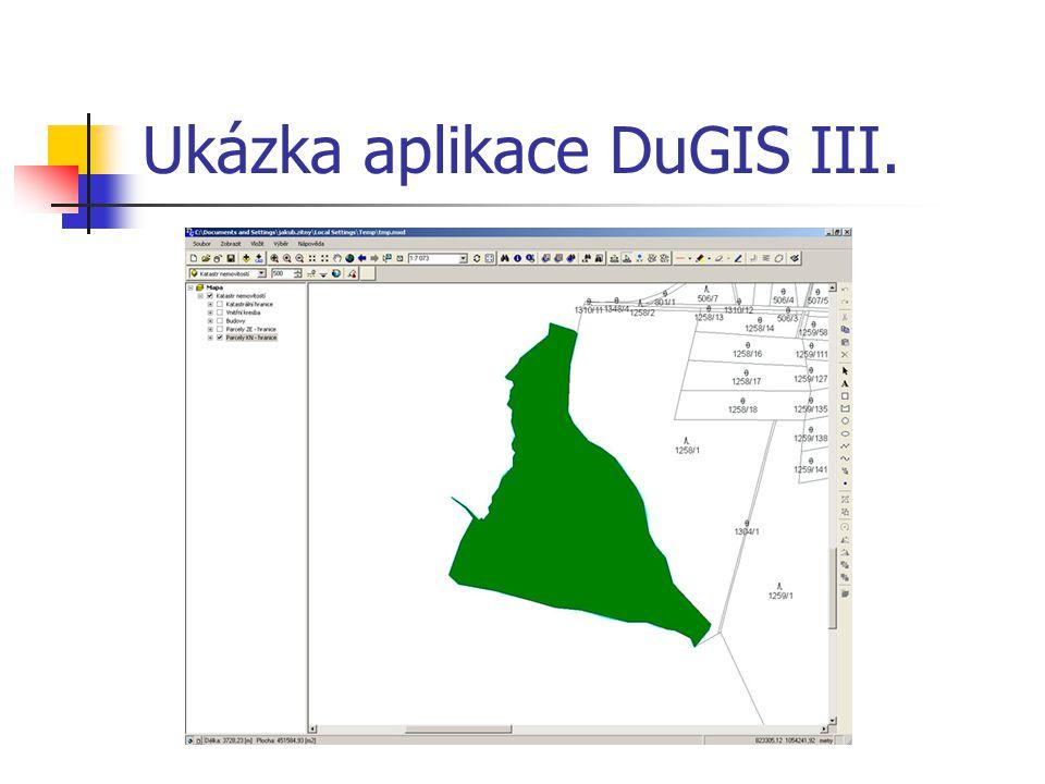 Ukázka aplikace DuGIS III.
