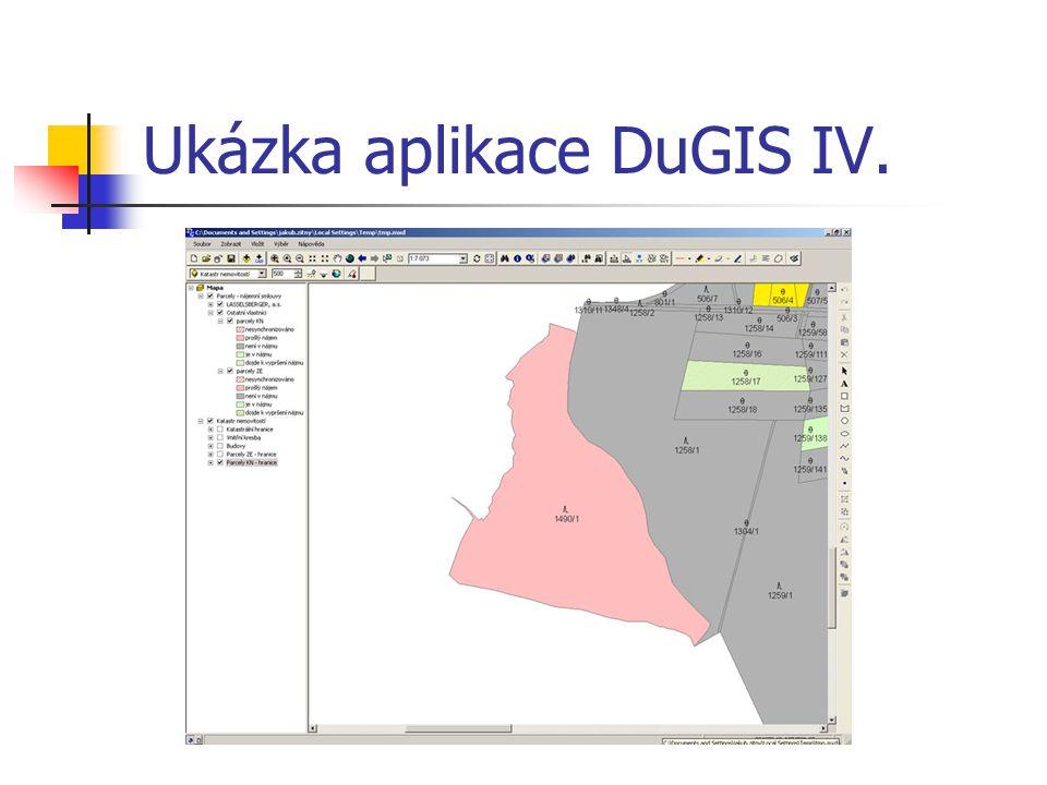 Ukázka aplikace DuGIS IV.