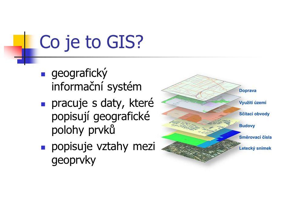 Co je to GIS geografický informační systém
