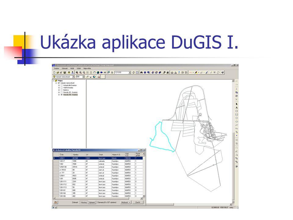 Ukázka aplikace DuGIS I.