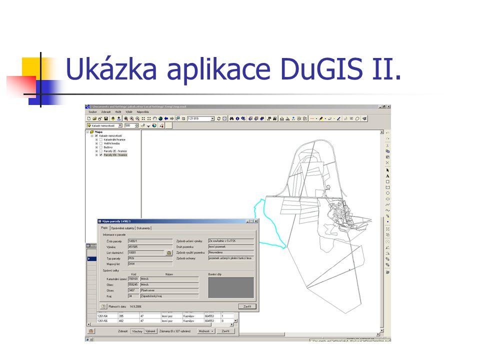 Ukázka aplikace DuGIS II.
