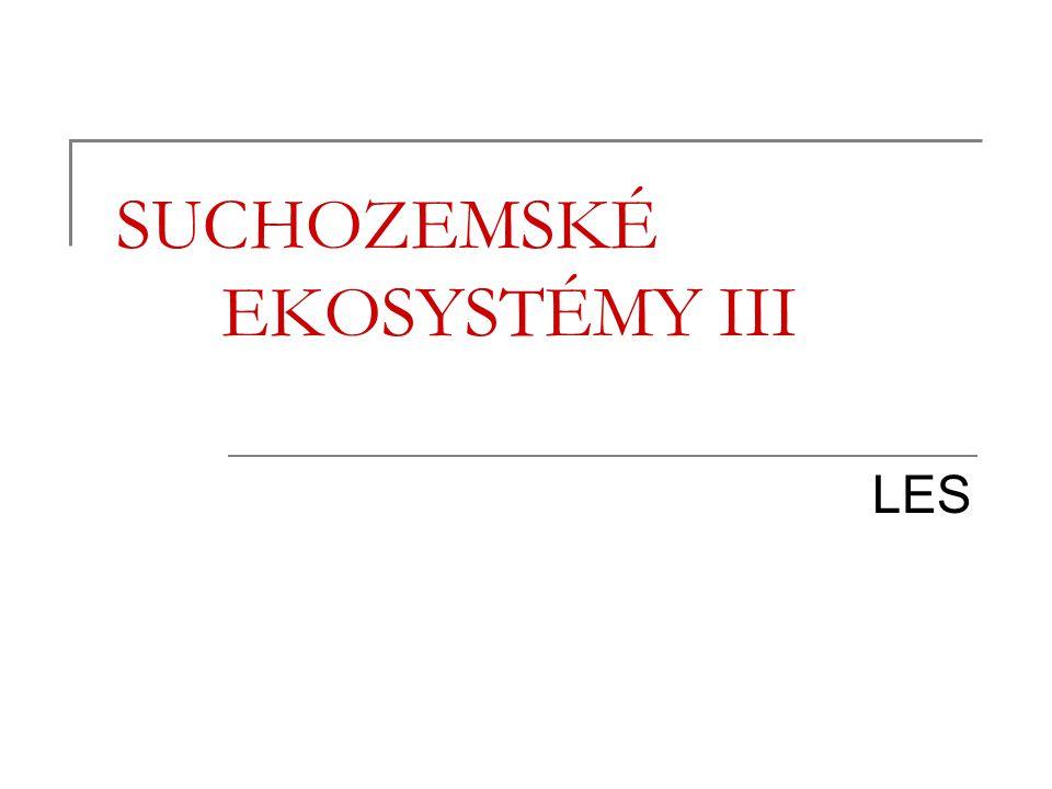 SUCHOZEMSKÉ EKOSYSTÉMY III