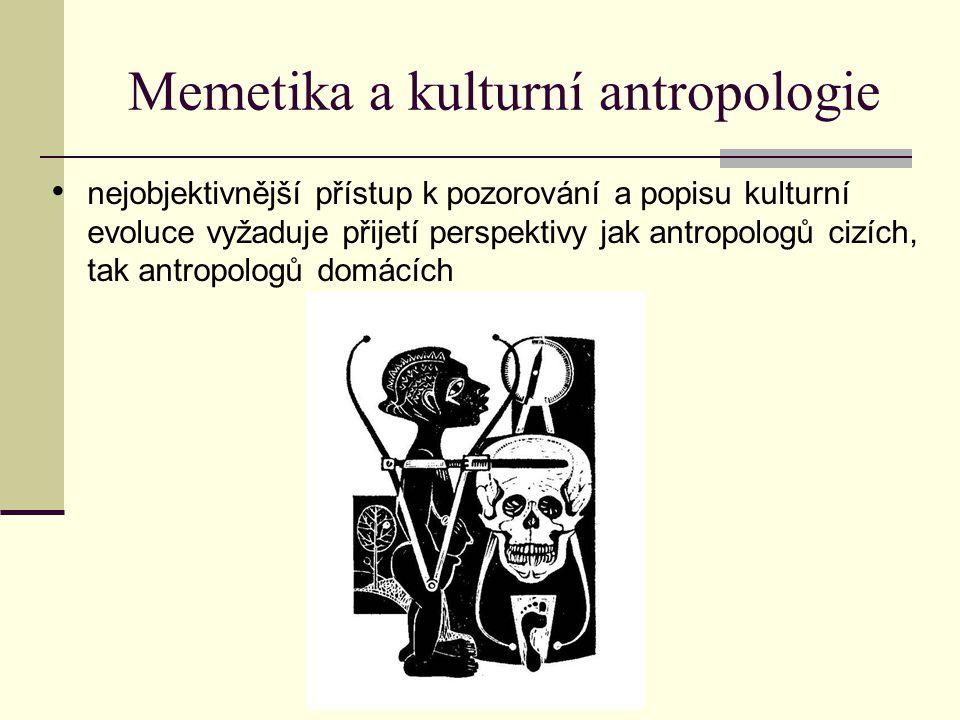 Memetika a kulturní antropologie