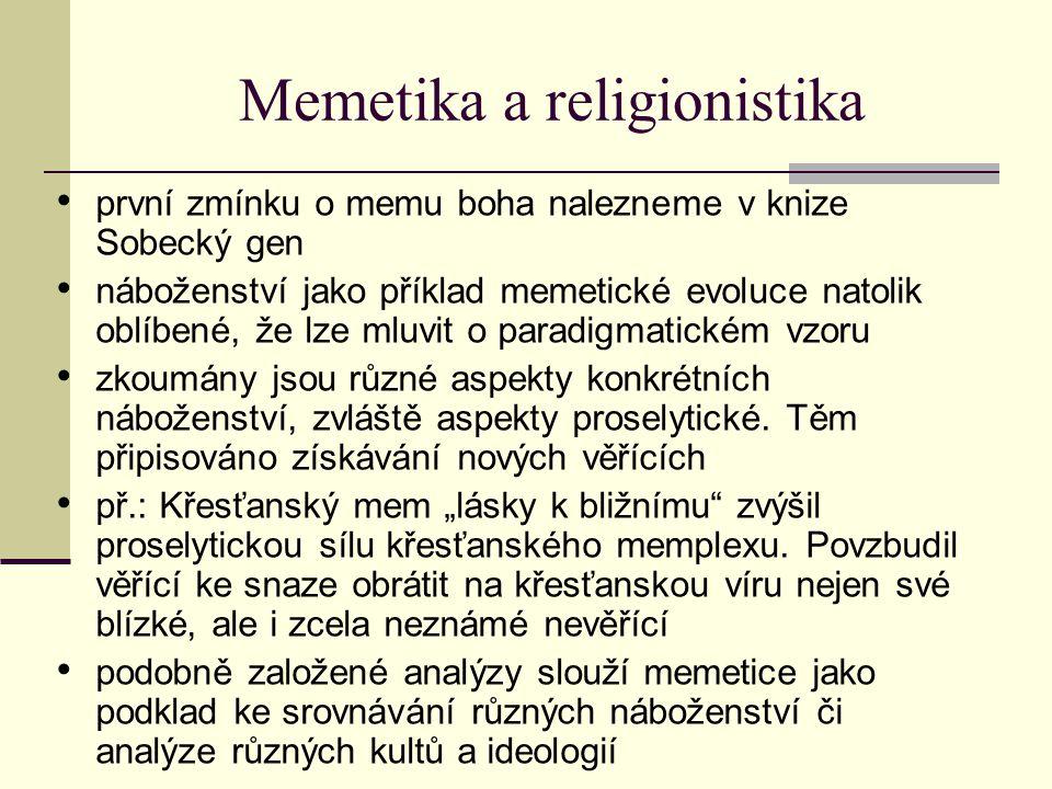 Memetika a religionistika