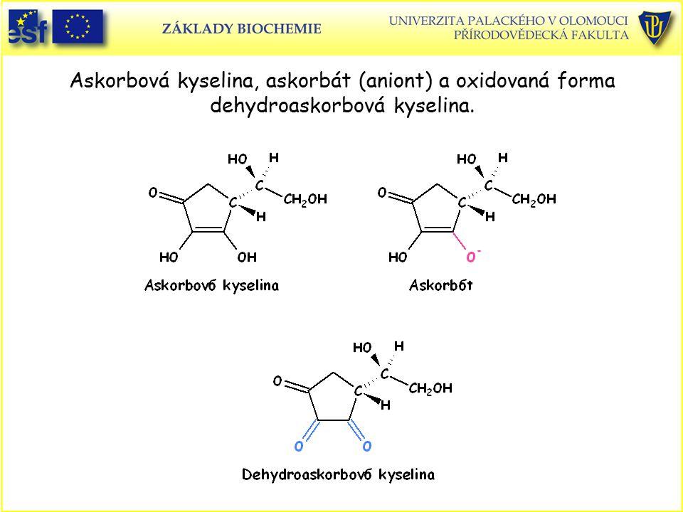 Askorbová kyselina, askorbát (aniont) a oxidovaná forma dehydroaskorbová kyselina.