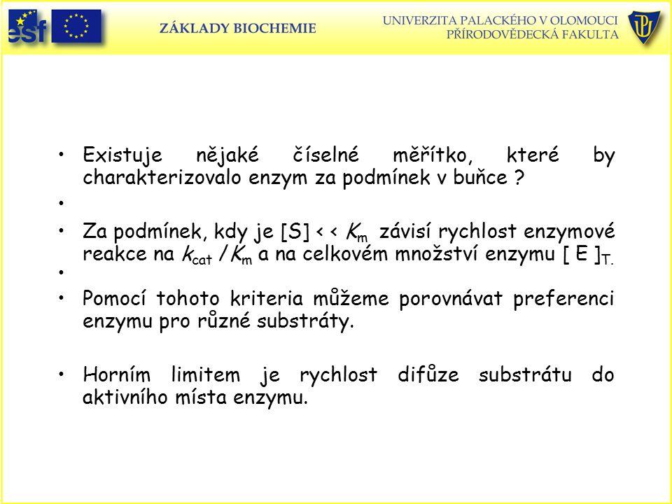 Horním limitem je rychlost difůze substrátu do aktivního místa enzymu.