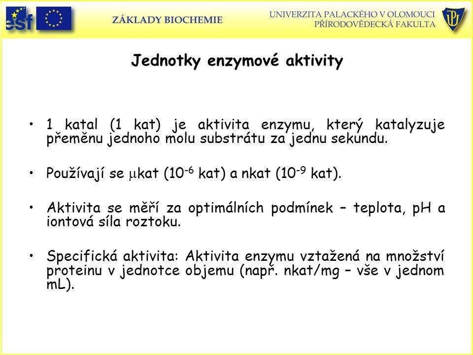 Jednotky enzymové aktivity