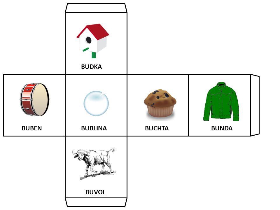 BUDKA BUBEN BUBLINA BUCHTA BUNDA BUVOL