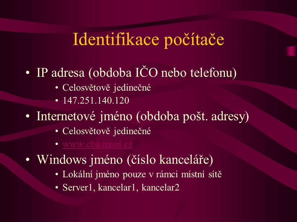 Identifikace počítače
