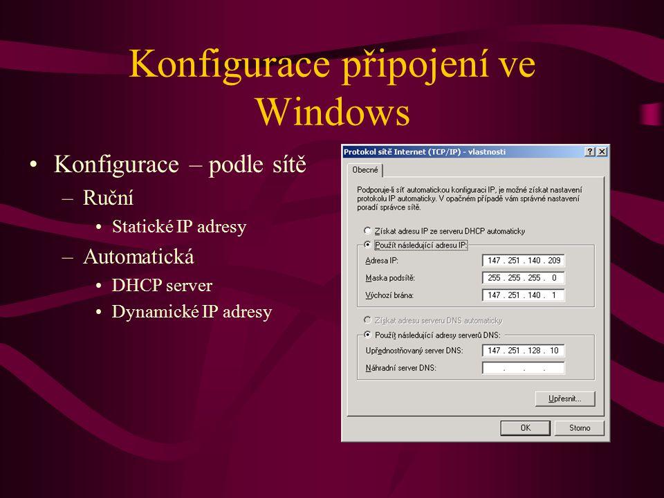 Konfigurace připojení ve Windows