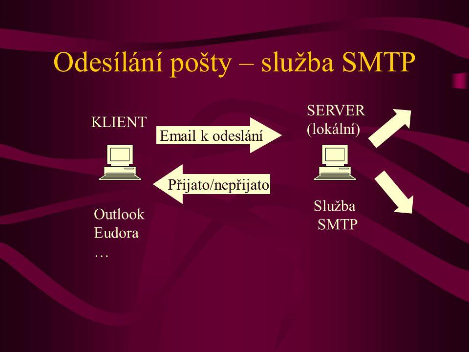 Odesílání pošty – služba SMTP
