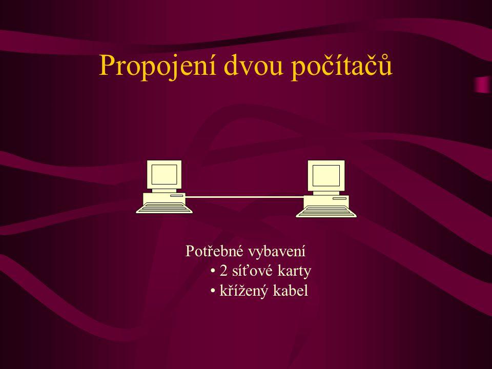 Propojení dvou počítačů