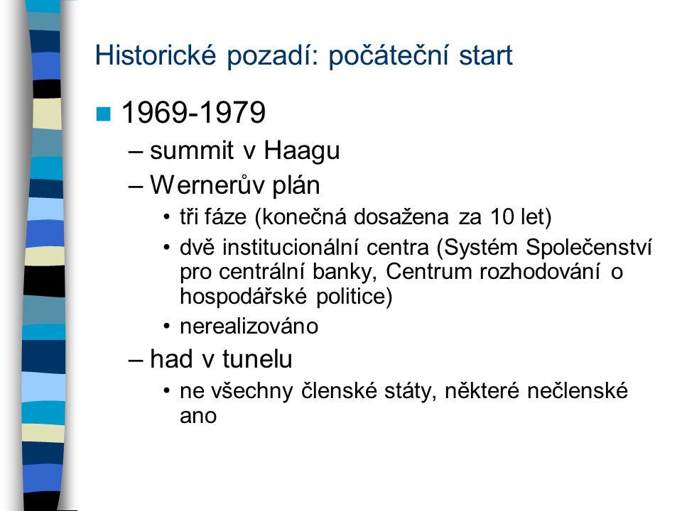 Historické pozadí: počáteční start