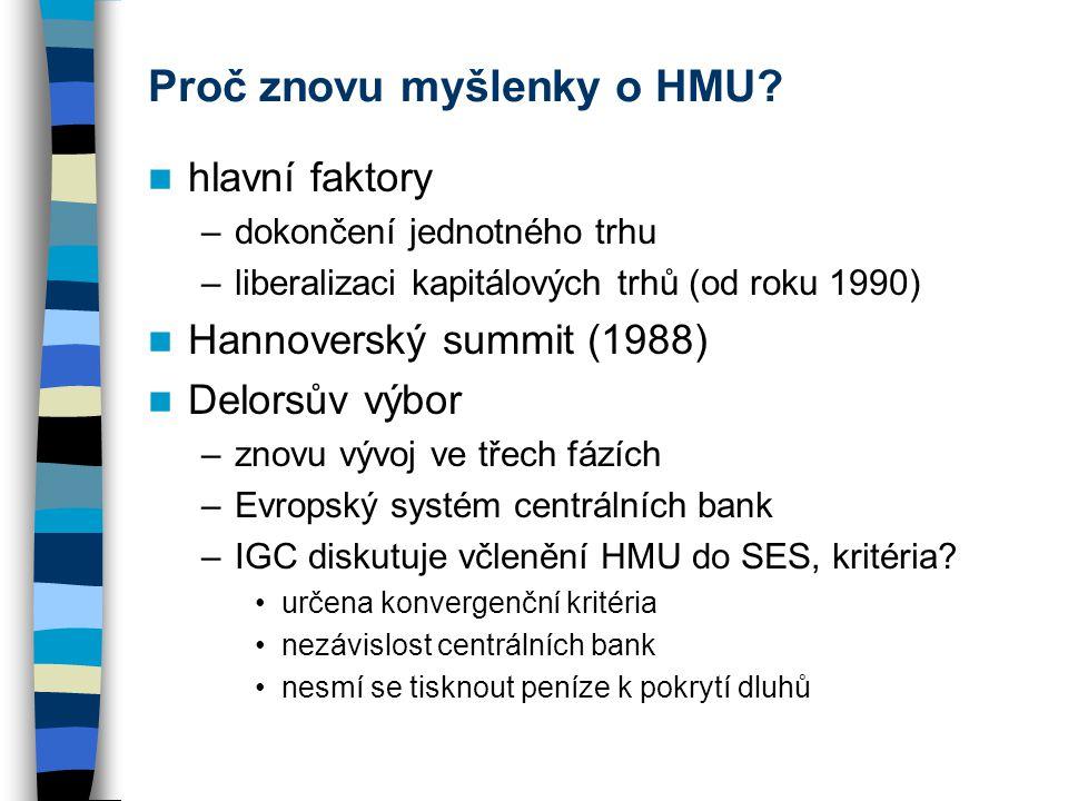 Proč znovu myšlenky o HMU