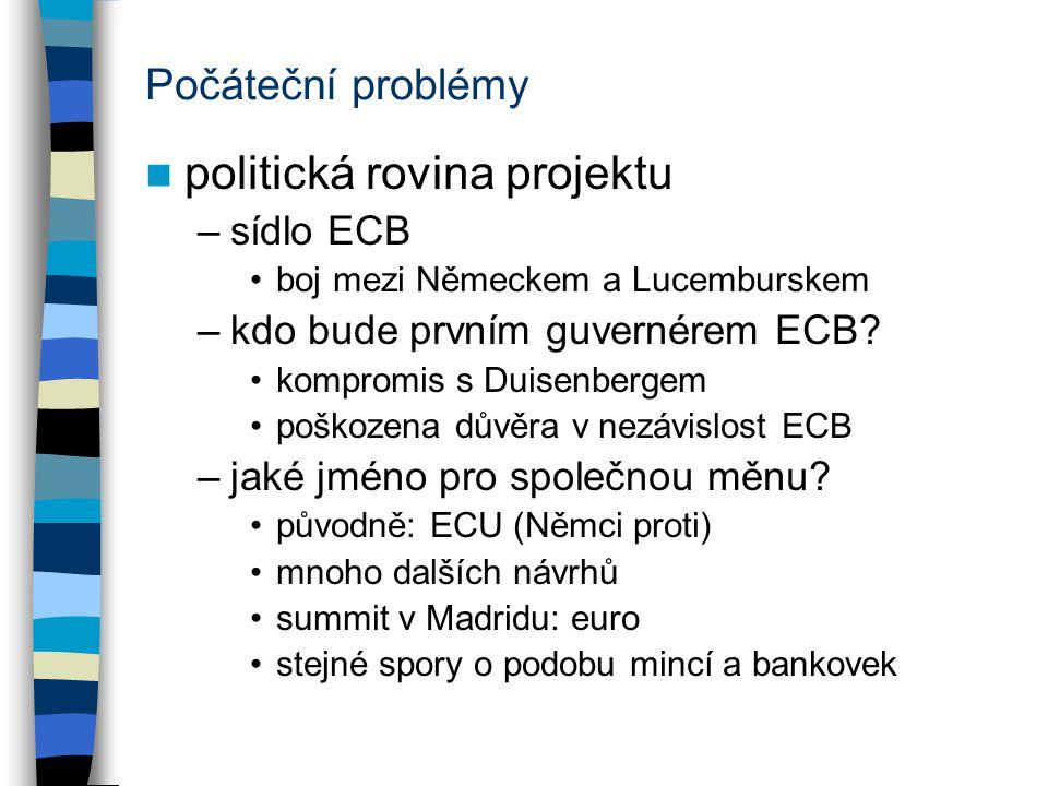 politická rovina projektu
