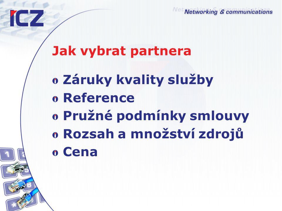Jak vybrat partnera Záruky kvality služby. Reference. Pružné podmínky smlouvy. Rozsah a množství zdrojů.