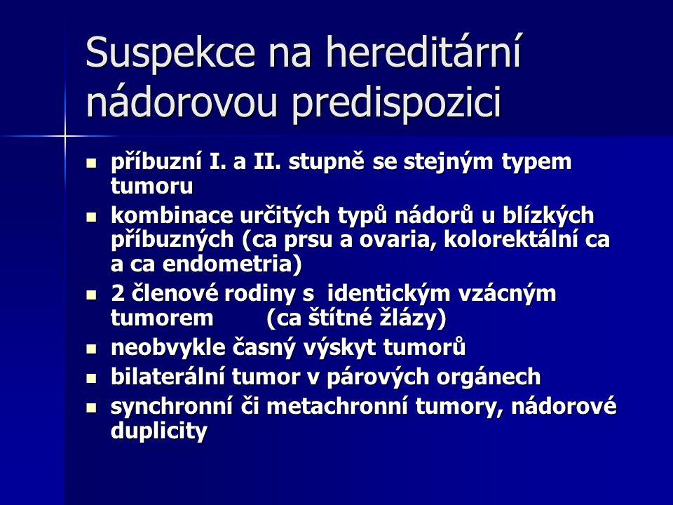 Suspekce na hereditární nádorovou predispozici